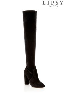 Lipsy Velvet Over The Knee Boots