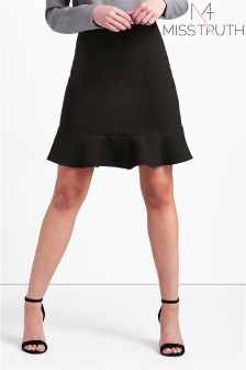 Miss Truth Pleated Frill Mini Skirt