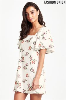Fashion Union Printed Shift Dress