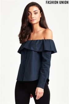 Fashion Union Off The Shoulder Shirt