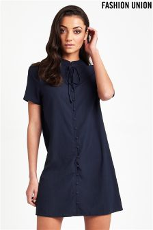 Fashion Union Short Sleeve Shirt Dress
