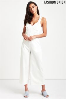 Fashion Union Bow Detail Jumpsuit