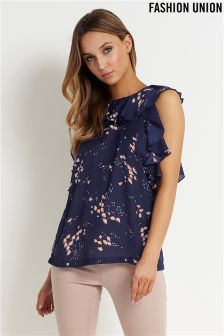 Fashion Union Ruffle Top