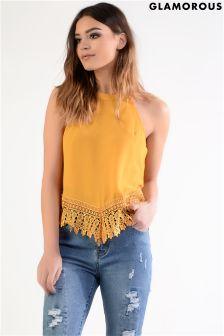 Glamorous Crochet Halterneck Top