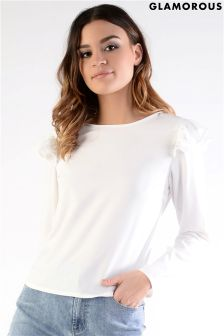 Glamorous Frill Shoulder Detail Top