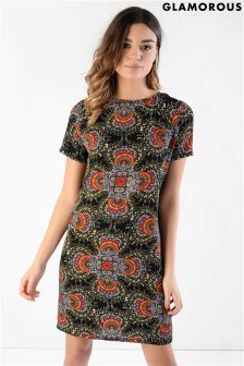 Glamorous Printed Shift Dress