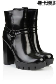 4th & Reckless Platform Heel Biker Boots