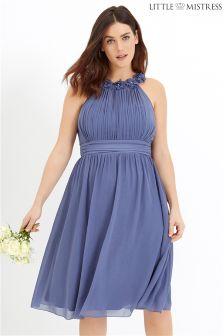 Little Mistress Curve Corsage Gathered Prom Dress