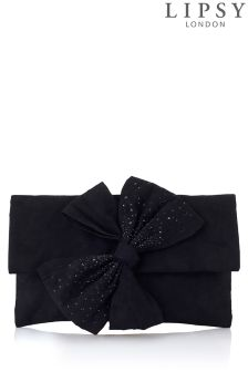Lipsy Twist Bow Clutch Bag