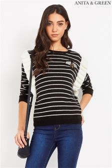 Anita & Green Striped Jumper