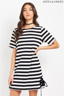 Anita & Green Striped Tee Dress