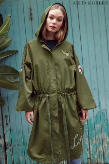 Anita & Green Embroidered Parka Jacket