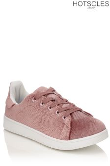 Hotsoles Snake Velvet Lace Up Trainers