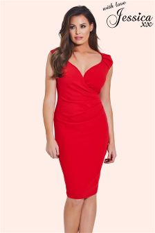 Jessica Wright Ruched Dress