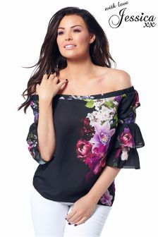 Jessica Wright Fliss Floral Top