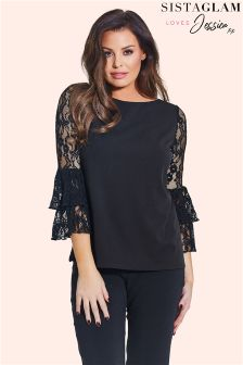 Jessica Wright Lace Bell Sleeve Blouse