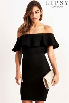 Lipsy Ruffle Bandeau Dress