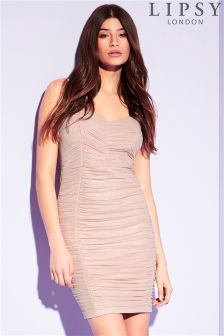 Lipsy Foil Ruched Cami Bodycon Dress
