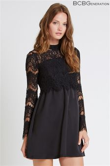 BCBGeneration Lace Top Dress
