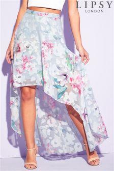 Lipsy Burnout High Low Maxi Skirt