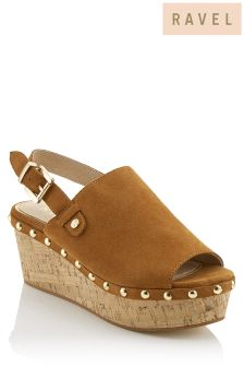 Ravel Wedge Peep Toe Sandals