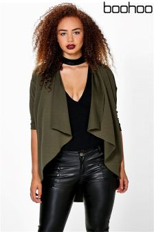 Boohoo Plus Crepe Waterfall Jacket