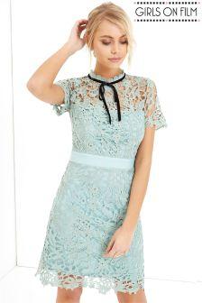 Girls On Film Crochet Dress