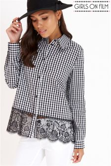 Girls On Film Checked Monochrome Shirt