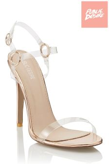 Public Desire Hoop Detail Barely There Heels