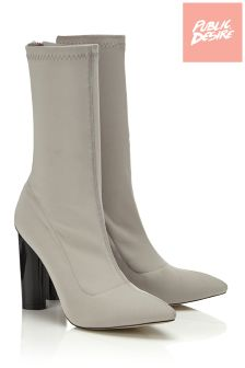 Public Desire Heeled Sock Boots