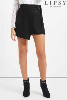 Lipsy Suede Wrap Skirt