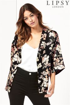 Lipsy Floral Print Short Kimono