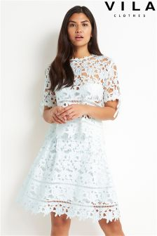 Vila A line Crochet Lace Skirt