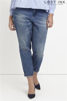 Lost Ink Curve Straight Leg Jean