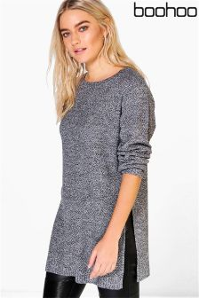Boohoo Side Split Tunic Jumper