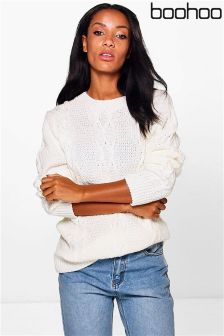 Boohoo Cable Knit Tunic