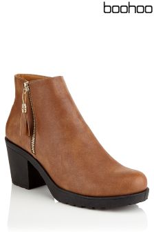 Boohoo Chunky Side Zip Ankle Boot