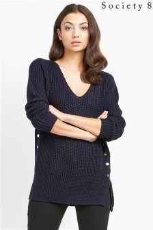 Society 8 Navy Military Inspired Jumper