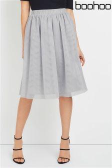 Boohoo Tulle Midi Skirt