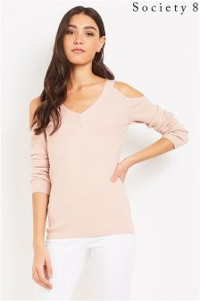 Society 8 Cold Shoulder Jumper
