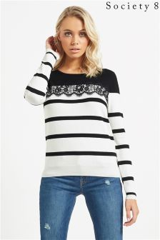 Society 8 Lace Nautical Jumper