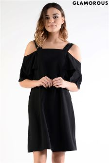 Glamorous Petite Off The Shoulder Shift Dress