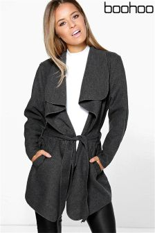 Boohoo Petite Waterfall Coat