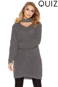 Quiz Choker Neck Jumper Dress
