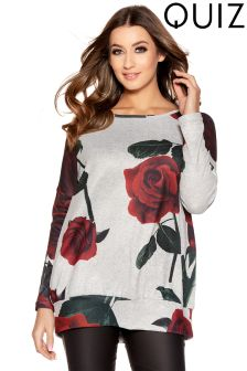 Quiz Rose Print Jumper
