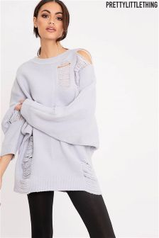 PrettyLittleThing Distressed Jumper