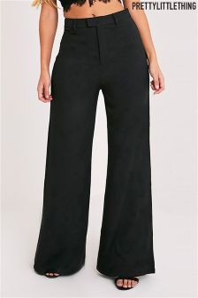 PrettyLittleThing Wide Leg Crepe Trousers