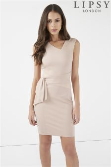 Lipsy Suede Insert Bodycon Dress