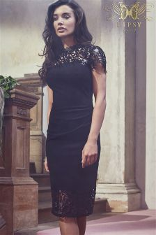 Lipsy VIP Sequins Lace Bodycon Dress