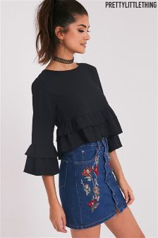 PrettyLittleThing Ruffle Blouse